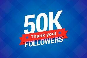 50,000 followers