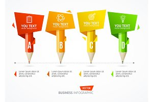 Business Infographic Pencil