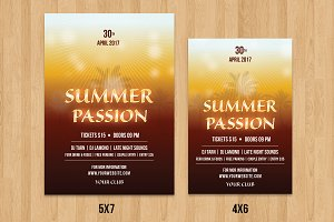 Summer Party Flyer Template-V498