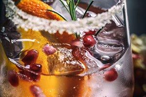 Fresh pomegranate drink