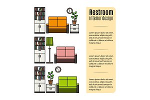 Furniture for restroom infographic