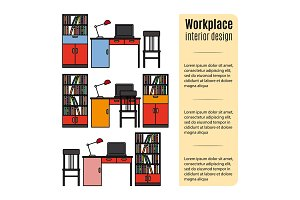 Furniture for workplace infographic