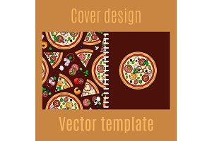 Cover design with cartoon pizza