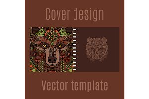 Cover design for print with bear