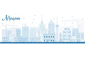 Outline Macau Skyline