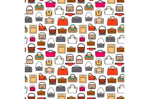 Fashion bags seamless pattern