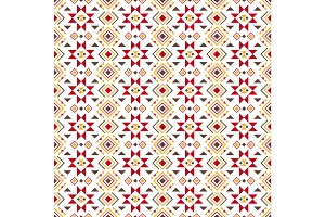 Geometric colored pattern