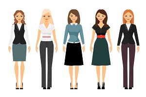 Women dress code illustration