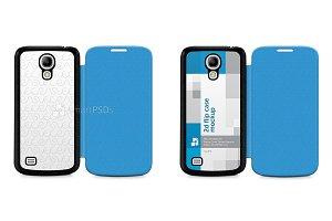 Galaxy S4 PU Flipcase Design Mockup