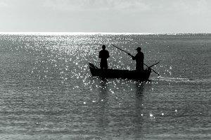 Two male fishermen