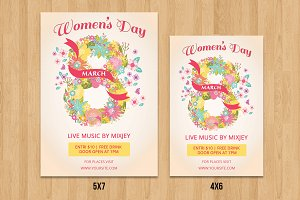 Women's Day Flyer Template-V499