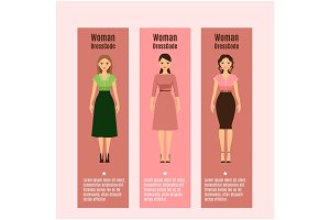 Woman DressCode flyers set