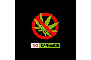No Cannabis sign