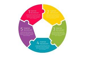 Round process steps illustration