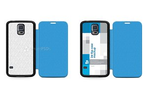 Galaxy S5 Mini PU Flipcase Mock-up