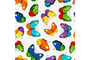 Children butterfly seamless pattern