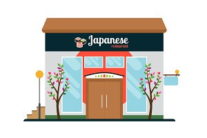 Japanese food restaurant front