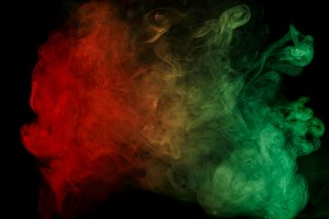 Abstract red green smoke Weipa