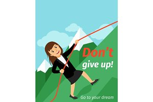 Motivation poster dont give up