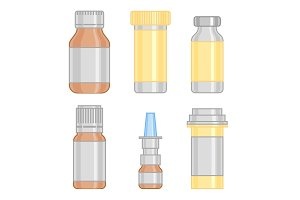 medicine bottles illustration