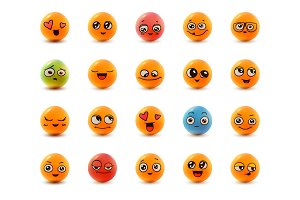 20 smiley face icons