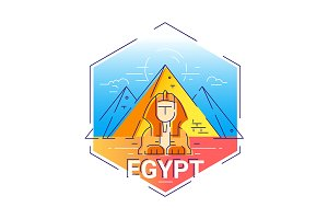 Egypt - 2 Colored Illustrations