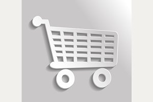 Icon shopping trolley