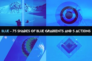 BLUE - 75 gradients & 5 actions