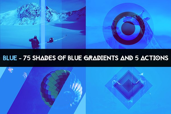 Gradients: 89colors - BLUE - 75 gradients & 5 actions