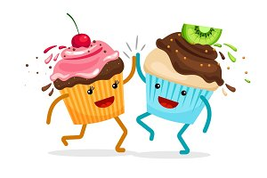 Cartoon muffins forever friends illustration