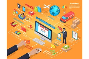 E-commerce Global Internet Purchasing Concept