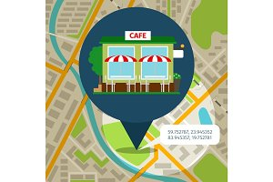Cafe location map