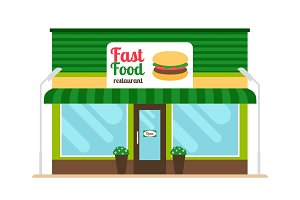Fast food restaurant store front