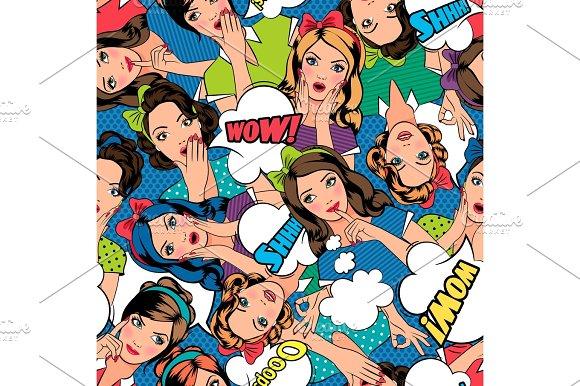 Pop art style pattern