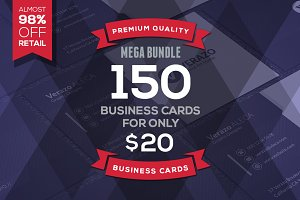 150 Mega Business Cards Bundle