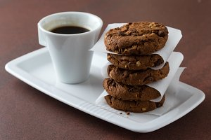 coffee with biscuit cookies