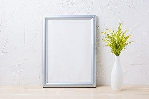 Silver frame mockup