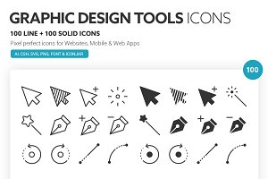 Graphic Design Tools Icons