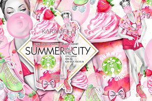 Summer in the City Clipart