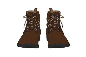 shoes, boots, vector illustration
