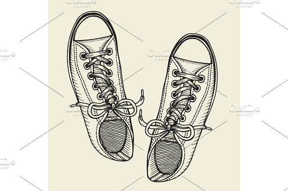 Skaters Shoes Top View