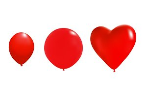 Heart Shape Balloons.