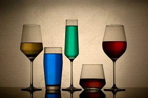 alcoholic glasses