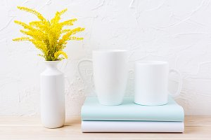 Coffee and cappuccino mug mockup