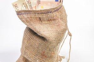 Bag with euros