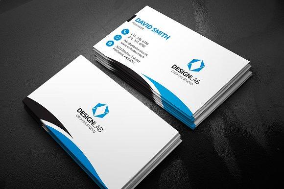 Clean business card business card templates creative market colourmoves
