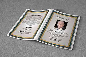Funeral Program Template-T669