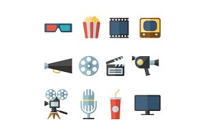movie modern flat icons