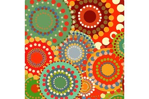 Textile color retro background ornament circles