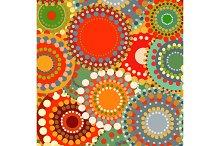 Textile color retro background ornament circles